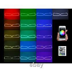 03-06 Chevy Silverado Color Changing RGBW LED Headlight Halo Ring BLUETOOTH Set