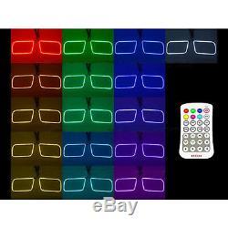 03-06 Chevy Silverado Multi-Color Changing LED RGB Fog Light Halo Ring M7 Set