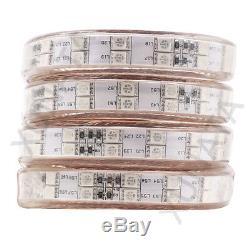 110-220V 5050 RGB LED Strip Light+Controller Waterproof Flex Rope Color Changing