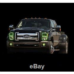 11-16 Ford F-250 Truck Multi-Color Changing LED RGB Headlight Halo Rings M7 Set