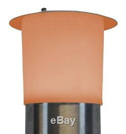 1500W Halogen Electric Patio Heater + Bluetooth Speaker, Colour Change LED Light