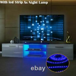 160CM High Gloss TV Unit Stand Cabinet LED Living Drawers Furniture Modern White