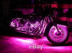 18 Color Change Led Tri Glide Motorcycle 12pc Led Neon Strip Light Kit