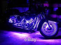 18 Color Changing Led Spyder F3-T Motorcycle 12pc Led Neon Strip Lighting Kit
