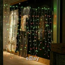 2 Sets Of Twinkly 190 LED Icicle Lights, Red / Green / Blue, L21.5m