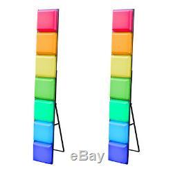 2x LEDJ Mood Bar Classic Retro LED Colour Changing Light Box DJ Effect Panel 1.6