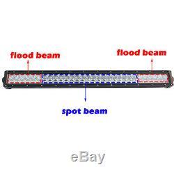 32inch Led light bar Multi color changing RGB halo ring+ 2pcs 18w Work light Bar