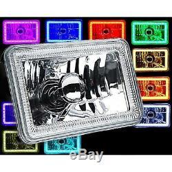 4X6 BLUETOOTH Color Change RGB SMD Halo Angel Eye Headlight LED Light Bulb Pair
