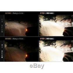 4X6 BLUETOOTH Color Change RGB SMD LED Halo Headlight 6000K HID Light Bulb Pair