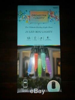 4 boxes 24 Gemmy Orchestra of Lights Multi-Function Color-Changing Mini LED NEW