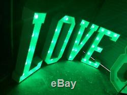 4ft Colour Changing Marquee Love Letters