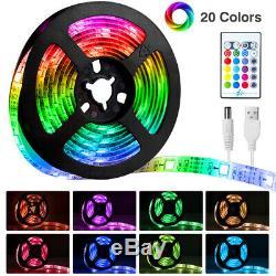 5050 Rgb LED Strip Lights Colour Changing Tape Under Cabinet Kitchen Lighting UK