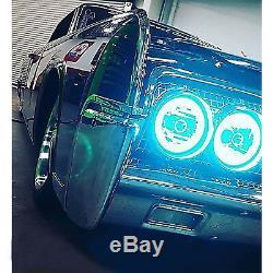 5-3/4 IR RGB COB LED Color Change Halo Shift Angel Eye 6000K HID Headlights Set