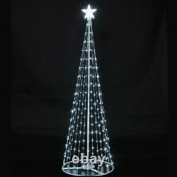 6ft Christmas Outdoor Digital LED Remote Control Light Up Tree Colour Changing