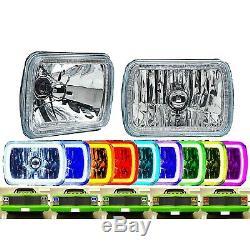 7x6 IR RGB COB Color Change White Red Blue Green LED Halo Angel Eye Headlights