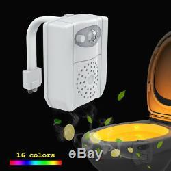 8/16 Colors LED Toilet Bathroom Night Lights UV Ultraviolet Light Disinfection