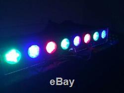 8 X Chameleon Colour Changing System LED Batten Wash effect stage, disco light