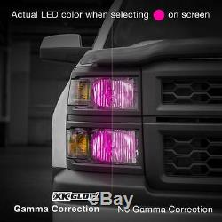 9004 2in1 LED Headlight Bulbs + Color Changing Demon Eye for Projector Reflector