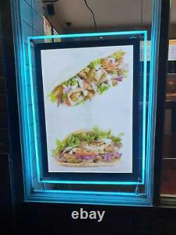 A2 smart LED illuminated Colour Changing RGB Crystal Frame, Display Boards