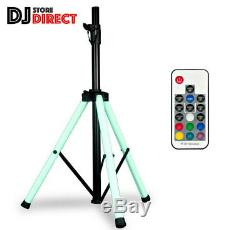 ADJ COLOR Changing LED Speaker Stand With Integrated LED Lights + Remote Control