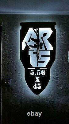 AR15 LED light up sign assault rifle night light Color changing