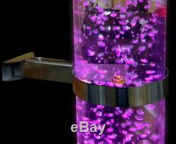 Acrylic Bubble Tube With Plastic Base and Colour Changing LED Light Incl. Bracket