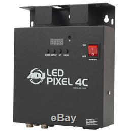American DJ (4) LED Pixel Tube 360 Color Changing Light LED Pixel 4C & Cables