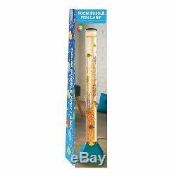 BLUE Large 90cm Colour Changing LED Sensory Water Aquarium Fish Tube Bubble Lamp
