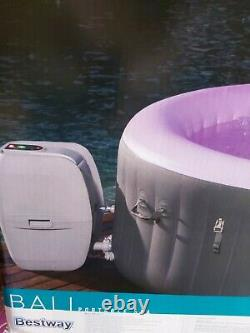 BRAND NEW Lay Z Spa 4 Person Inflatable LED Bali Hot Tub 2021 Model (MIAMI+LED)