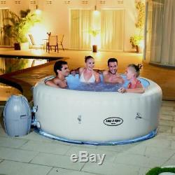 Bestway Lay-Z Paris AirJet Inflatable 4-6 Person LED Hot Tub Jacuzzi Spa BW54148