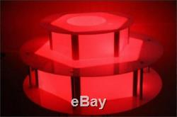 Brand New Remote Control Chocolate Fountain Led Lighting Base Color Changes pw