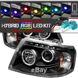 COLOR CHANGING LED LOW BEAM 03-06 Ford EXPEDITION Halo LED Projector Headlight