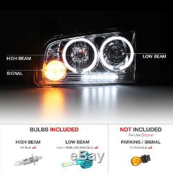 COLOR CHANGING LED LOW BEAM 2006-2010 Dodge CHARGER LED Headlight Lamps SRT RT