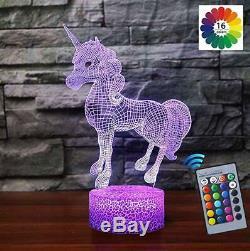CUTE Unicorn Lamp Night Light for Kids FUN Color Change BEST Birthday Xmas Gift
