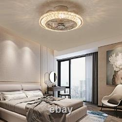 Ceiling Fan with Light Crystal Fan Light Remote Control Dimmable 3 Wind Speed