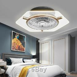 Ceiling Fan with Light Remote Control Color Changing LED Lamp Dimmable 48W UK