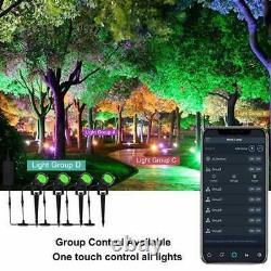 Color Changing Bluetooth APP Landscape lighting 24 volt 48 watts. Bundle of 2
