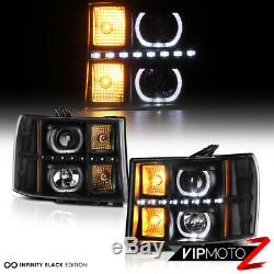 Color Changing LED Low Beam 07-13 GMC Sierra 1500 2500HD 3500HD DRL Headlights