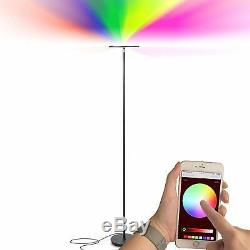 Color Changing Modern 69 Tall Floor Lamp Dimmable Circular Top LED Light