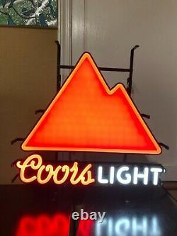 Coors Light Color Changing Mountains Led Beer Bar Sign Man Cave Decor New Garage