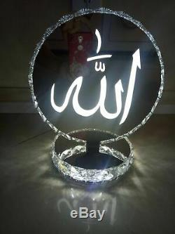 Crystal table lamp Allah Colour changes bluetooth Speakers built 2019