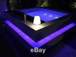 Cube hot tub, luxury spa, Korion surrounds, wifi, Bluetooth, LED system