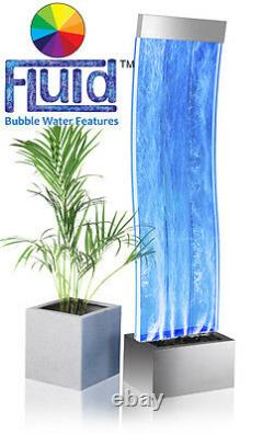 Curved Bubble Wall Water Feature Indoor Colour Changing Freestanding 150cm Aries