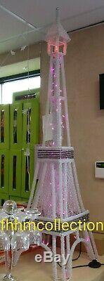 Eiffel Tower Aluminium Big Ben Silver Table Floor Standing LED Lamp Home 150CM