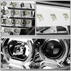 For 09-12 Bmw E90 3-series Chrome Led 3d Rgb Color Change Angel Eyes Headlight