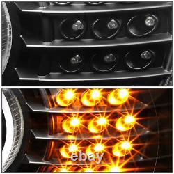 For 96-03 Bmw E39 5-series Black Led 3d Rgb Color Change Angel Eyes Headlight