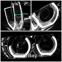 For 96-03 Bmw E39 5-series Chrome Led 3d Rgb Color Change Angel Eyes Headlight