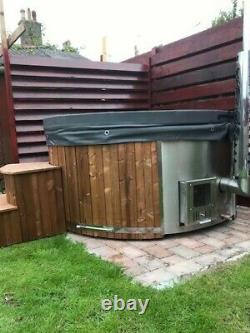 Fully Loaded Fibreglass Wooden Hot Tub Air Or Hydro Bubbles + Led, Wood Fired