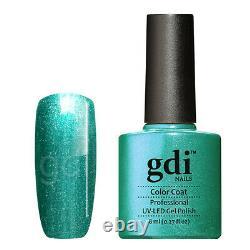 Gdi Fine Glitter/Shimmer Range R25 Turquoise Beau UV/LED Gel Nail Polish