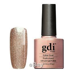 Gdi NAILS Fine Glitters R01-Sizzling Champagne UV/LED Soak Off Gel Nail Polish